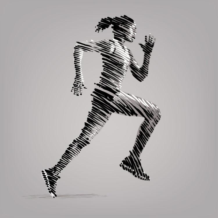 La posición corporal afectará a la respiración mientras corres (iStock)