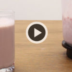 Batido de proteínas casero: fresa y soja