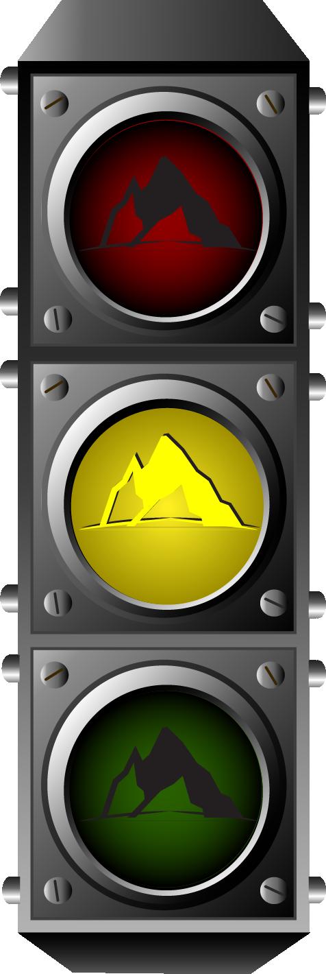 Semáforo Montaña Amarillo