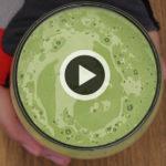 Batidos de proteínas caseros: verde
