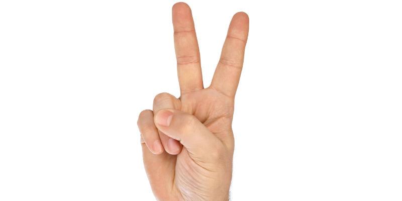 Dos dedos —> queso (iStock)