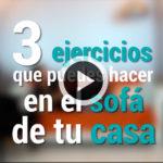 3 ejercicios para glúteos desde el sofá de tu casa