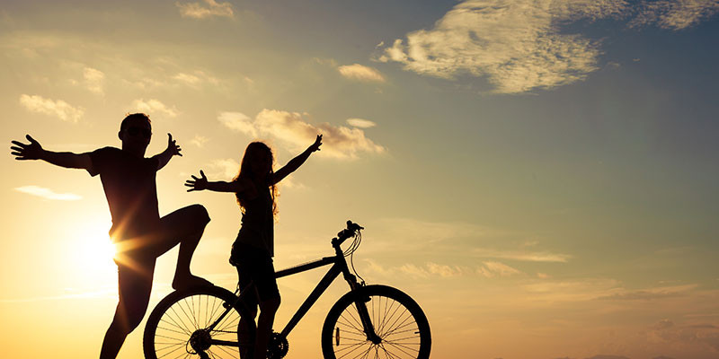 Un paseo en bici cuando el sol da un respiro (iStock)