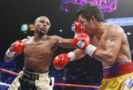 Floyd Mayweather Jr en su pelea ante Manny Pacquiao (GTRESONLINE)