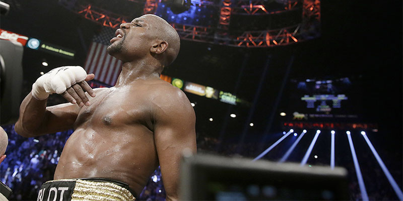 Mayweather tras ganar a Pacquiao (GTRESONLINE)