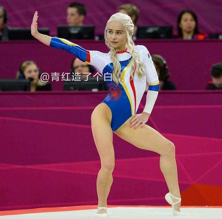 Daenerys Targaryen participa en gimnasia artística