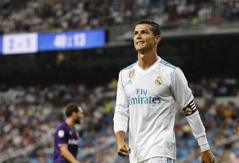Cristiano Ronaldo se lamenta durante un partido (Gtres)