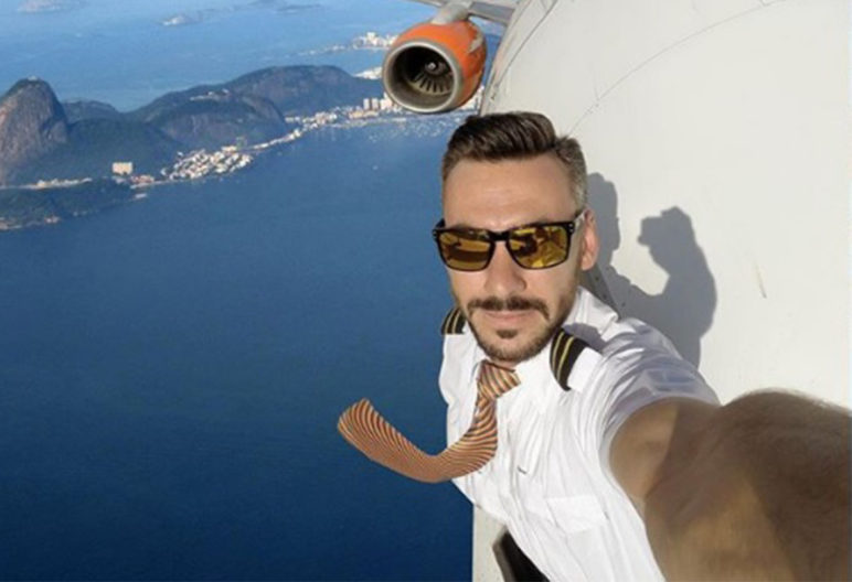 Uno de los selfies de este piloto (@Pilotganso)