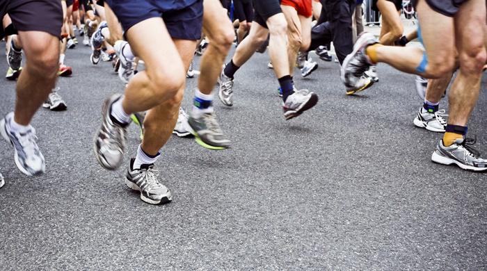 Participantes en un maratón. blyjak (iStock).