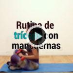 Rutina de tríceps con mancuernas