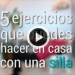 5 ejercicios para hacer en casa con una silla