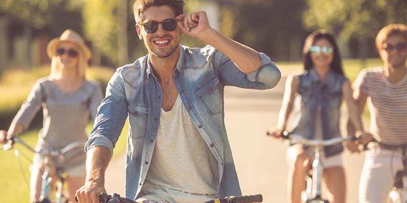 Con la bici, pero de paseo (iStock)