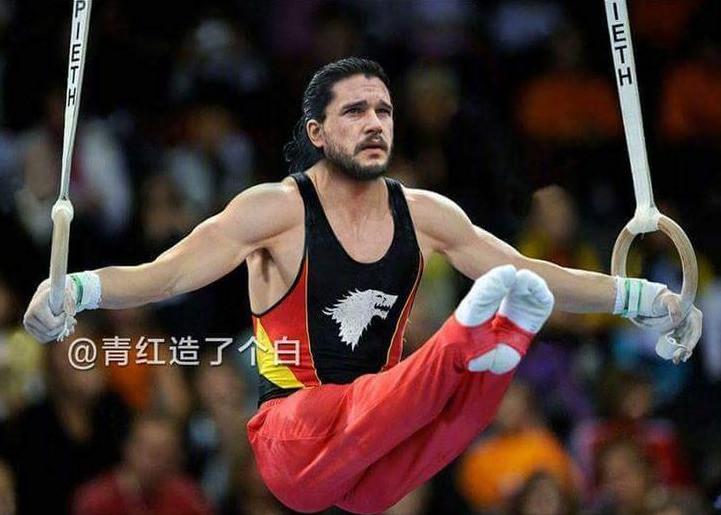 Jon Snow es otro gimnasta de nivel