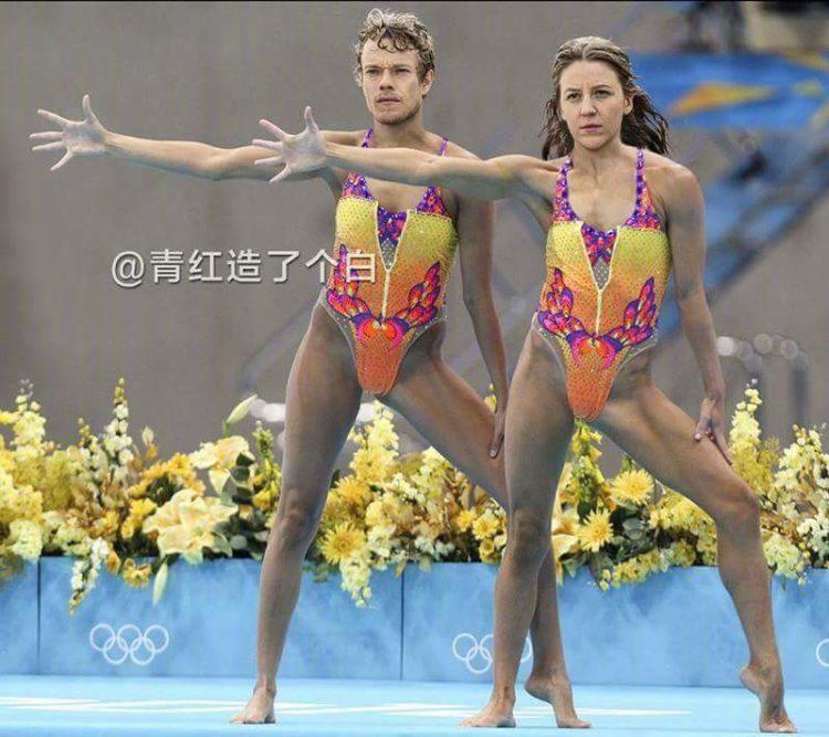 Los hermanos Greyjoy, espectacular dúo de natación sincronizada