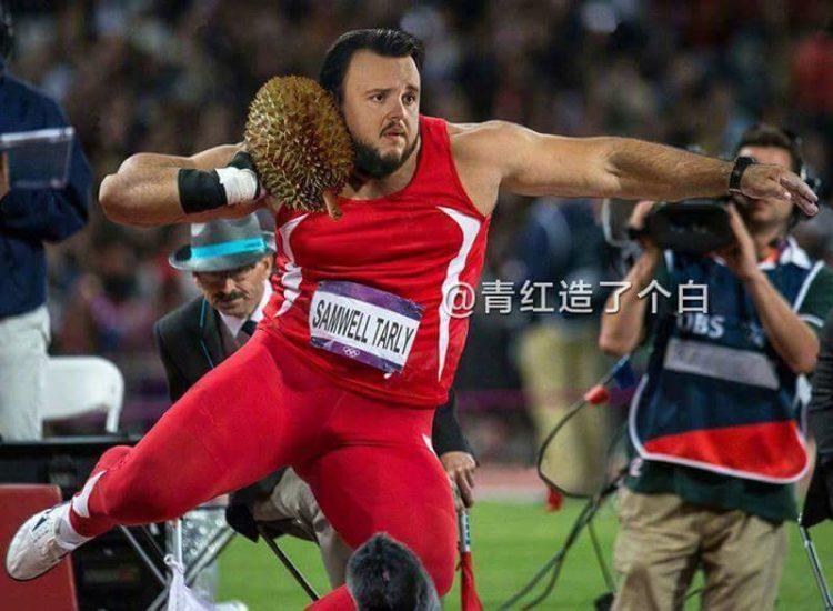 Samwel Tarly es gran lanzador de peso