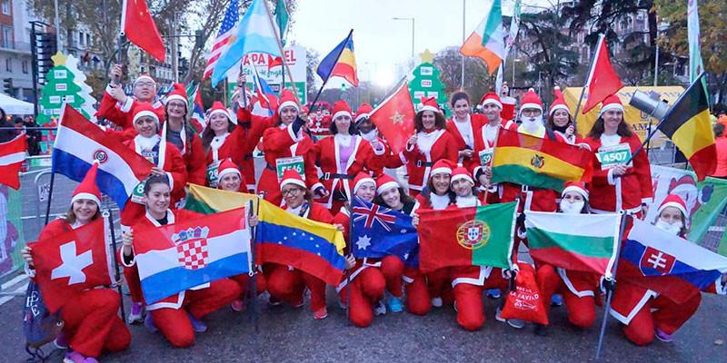 Muchas nacionalidades representadas en la Carrera de Papá Noel (lacarreradepapanoel.com)