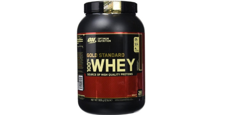 Optimum Nutrition Gold Standard 100% Whey Proteína en Polvo, Extremo Chocolate con leche - 908 g (Amazon)