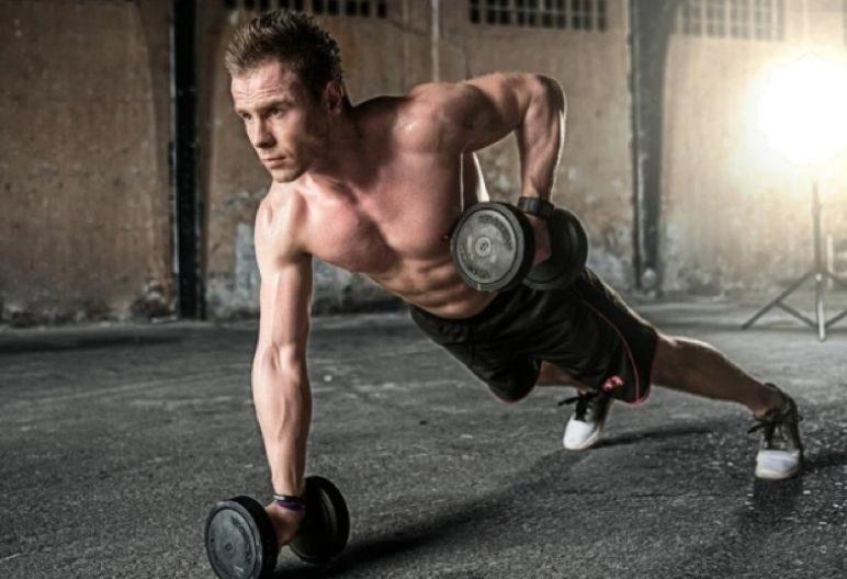 Hombre en el gimnasio (Pixabay)